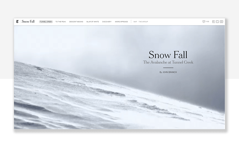 Parallax scrolling for web and mobile - 20 top examples