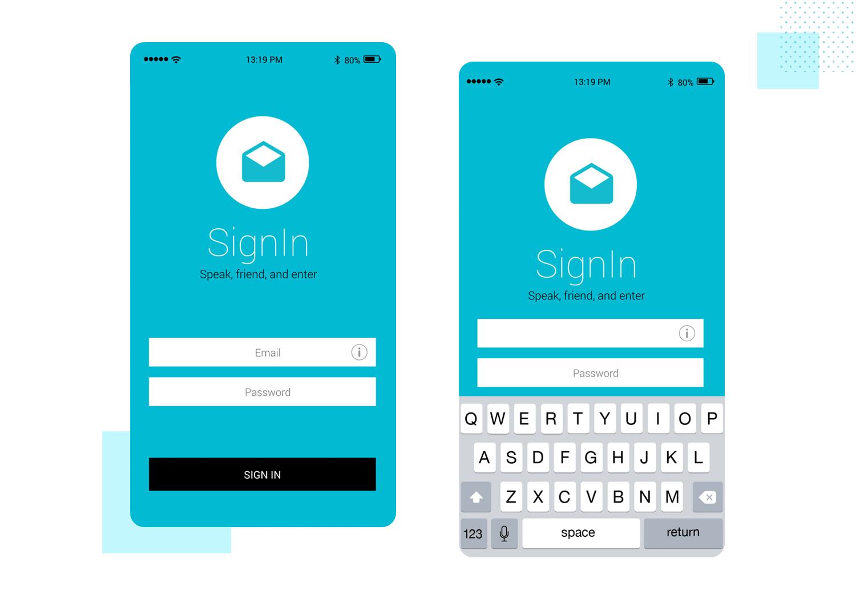 iOS Passcode - mobile app mockup - Justinmind