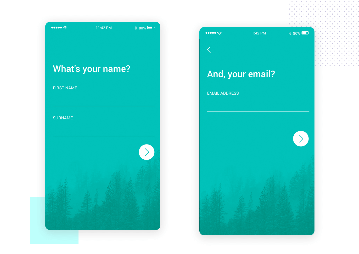 Screen flow validation - mobile app mockup template