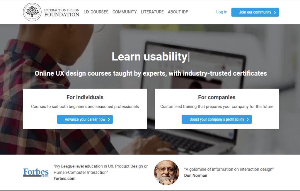 Online UI/UX design course on the design foundation.