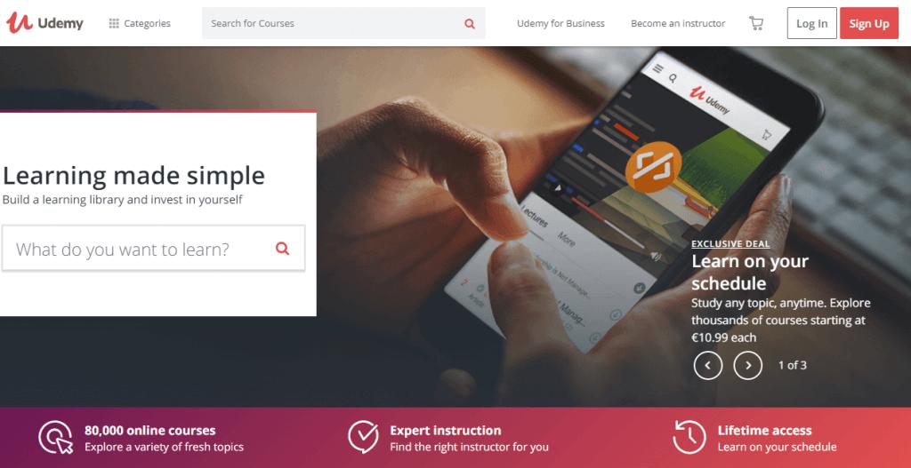 Online UI/UX design course at Udemy.com