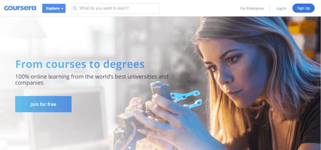 Online UI/UX design course on Coursera.com
