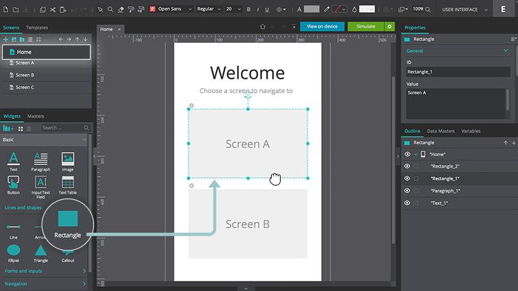 home screen rectangle