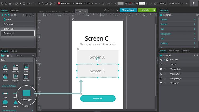 screen c rectangle