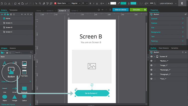 screen rectangle