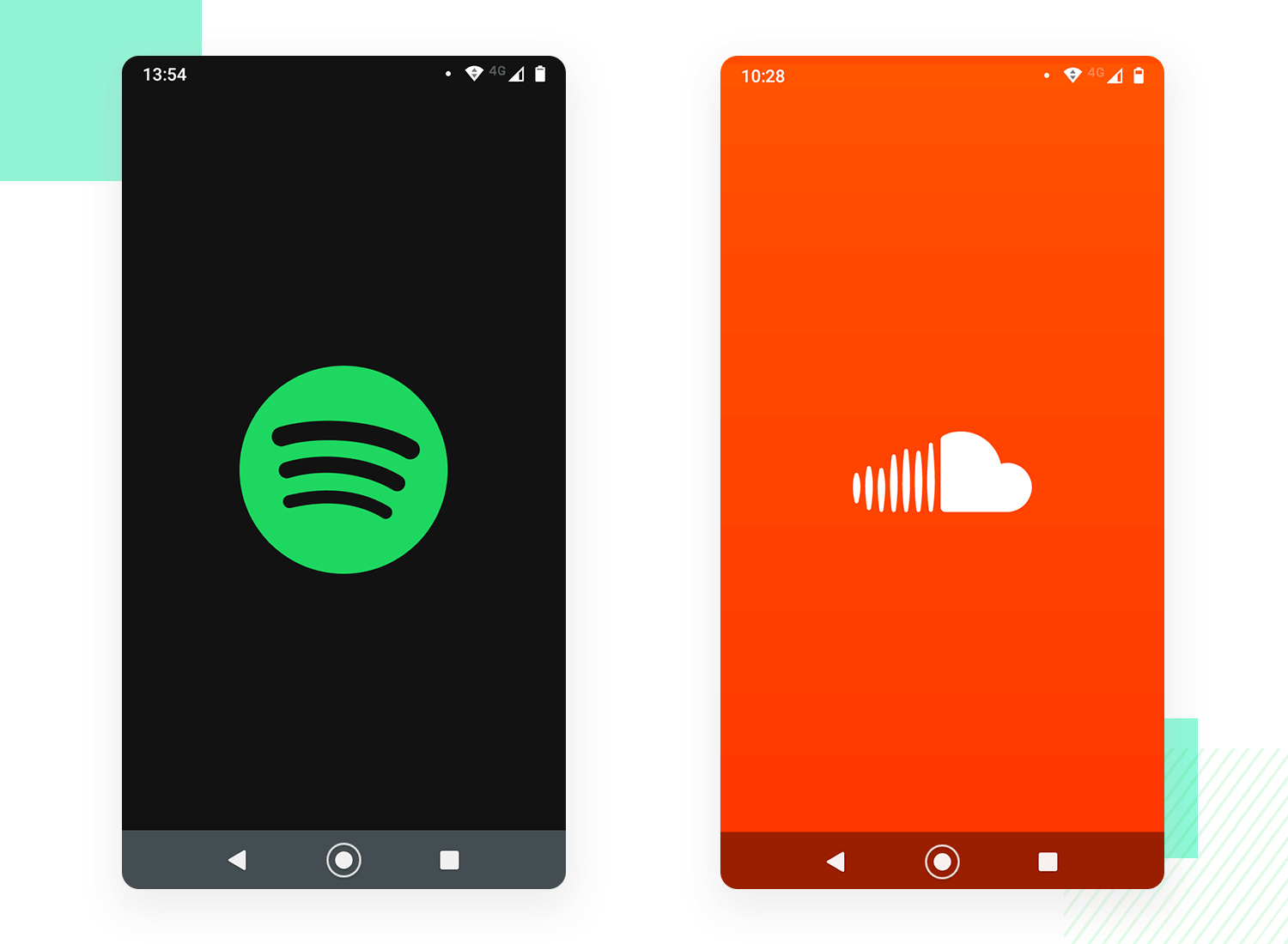 spotify and soundcloud splash screen examples