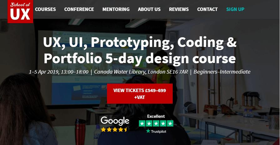 ux design course in london - school of ux