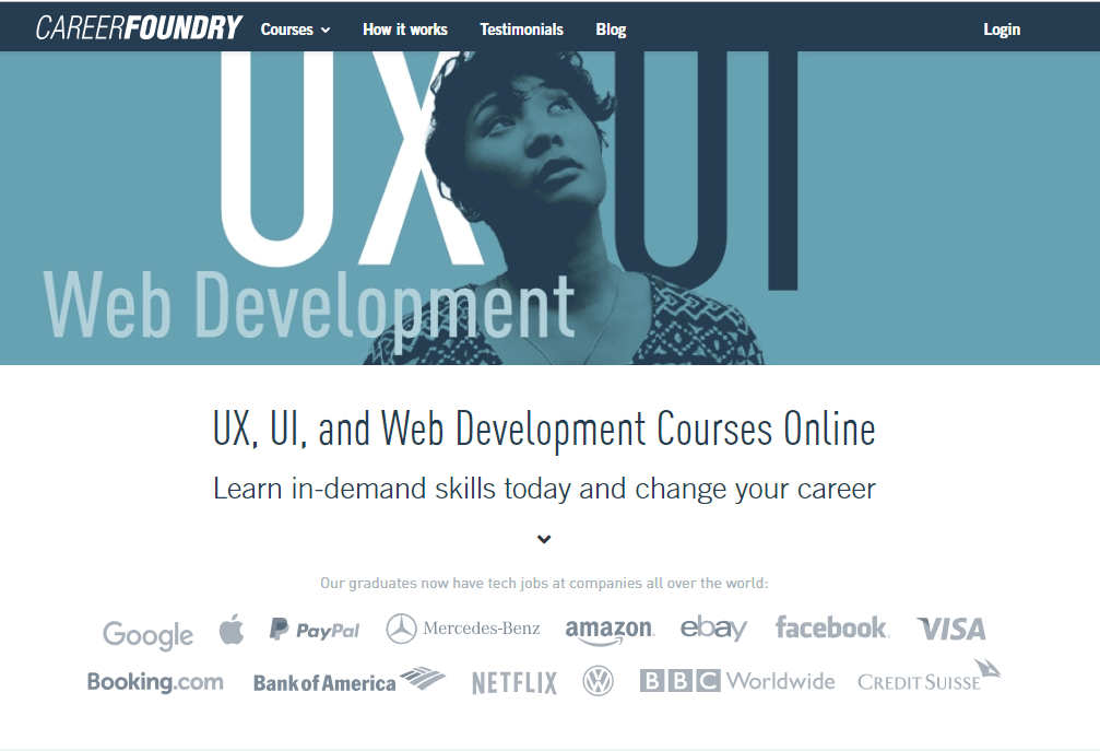 Online UI/UX design course at Career Foundry