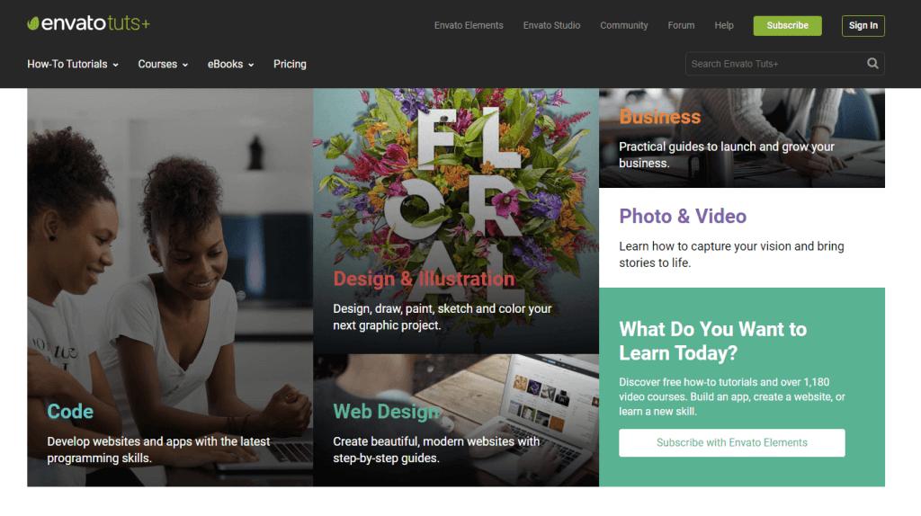 ONline UI/UX design course at Envato Tuts+