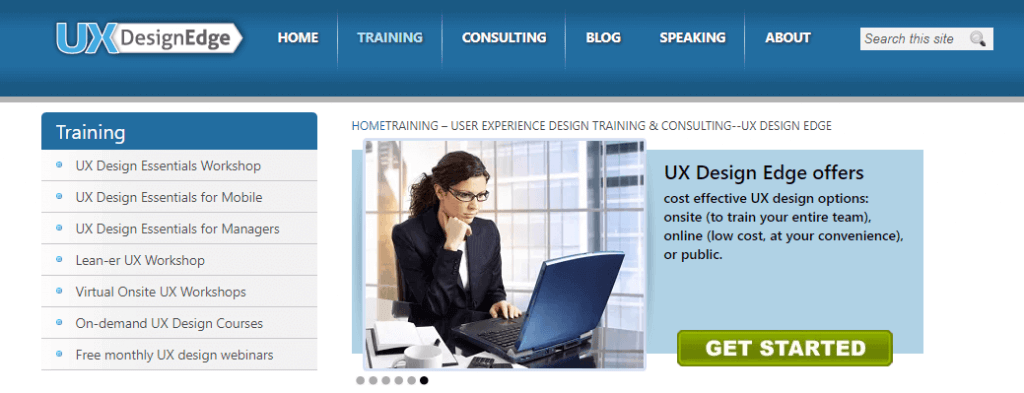 ONline UI/UX  design course on UX design Edge
