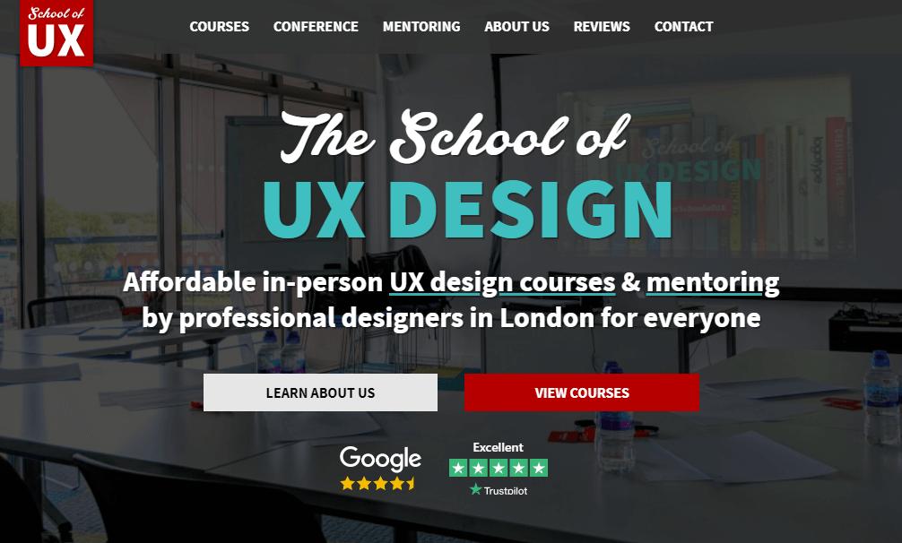 ONline course UI/UX design at School of UX.