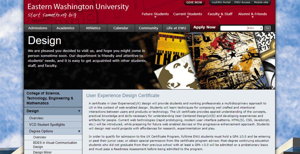 eastern washington university ux course