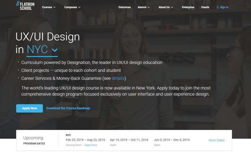 flatiron ux design course in classroom