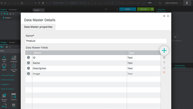 add fields to data master