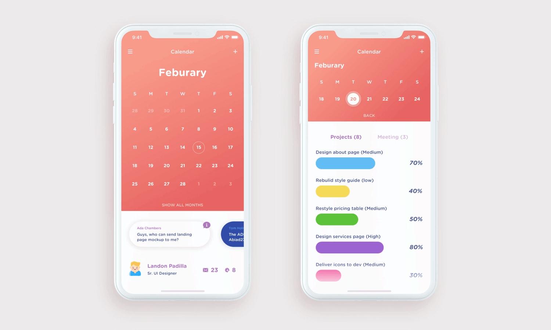 Calendar App Design : Awesome calendar app designs and how to make your own