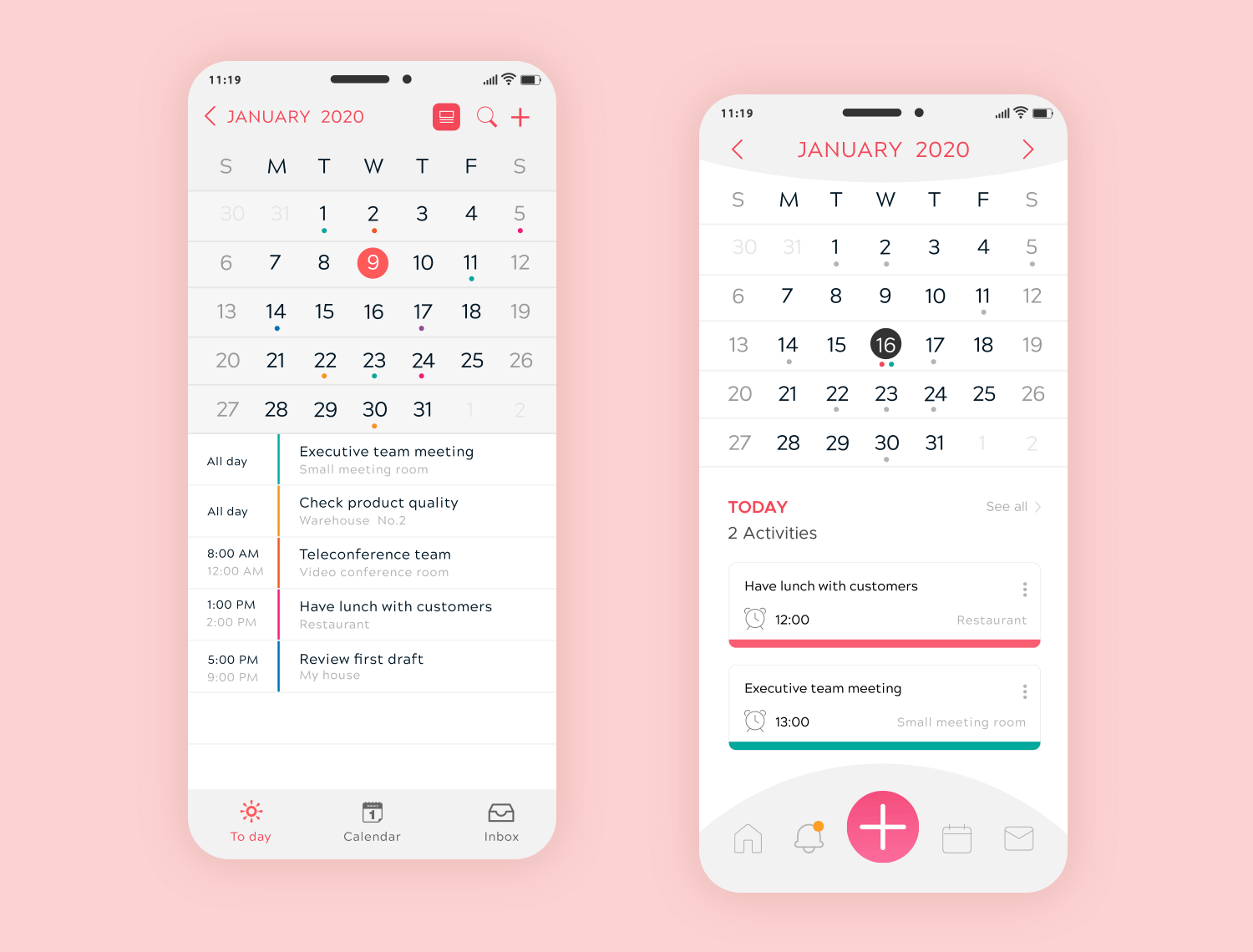Calendar Design For App : Awesome calendar app designs and how to make your own
