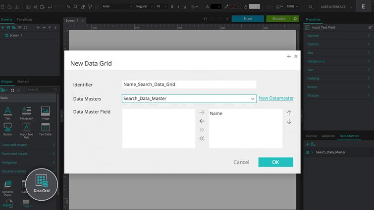 create data grid