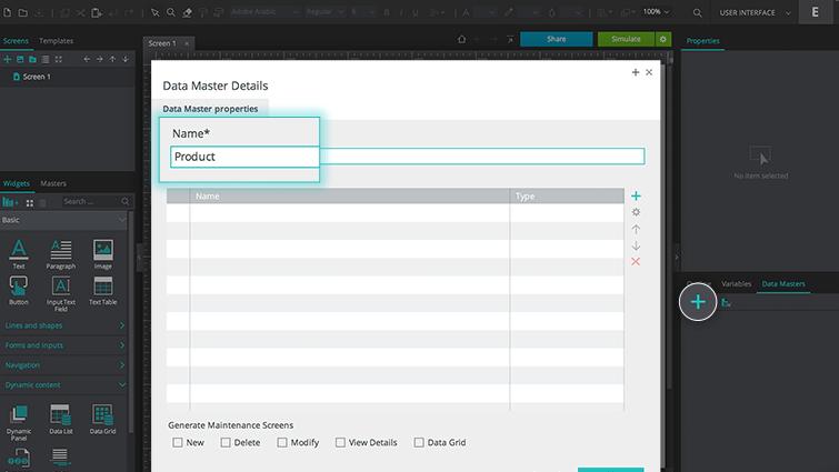 create product data master