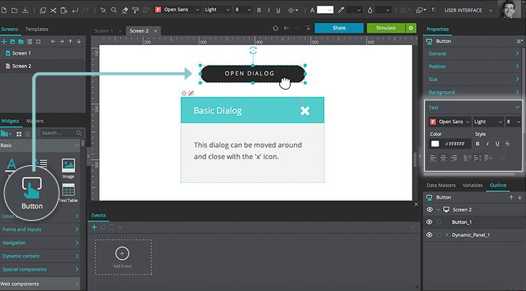customize button widget