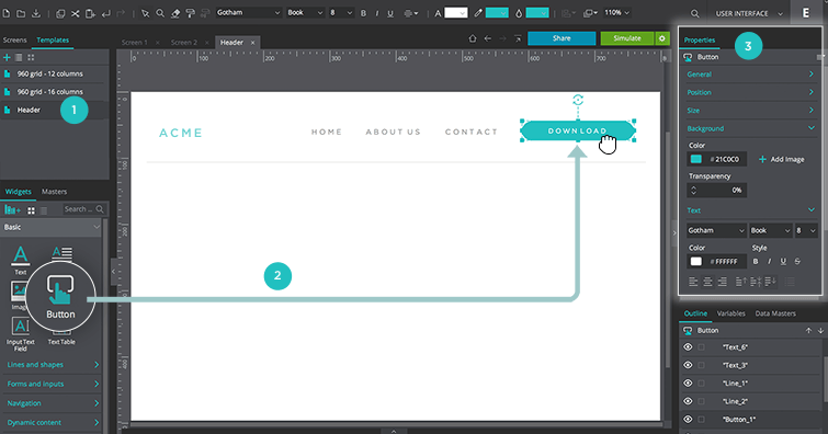 customize template content