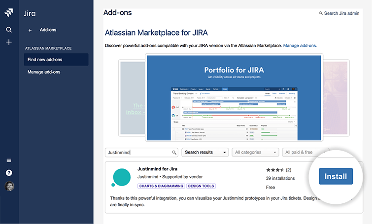 justinmind for jira card