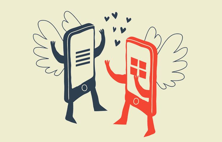 Mobile design: list or grid?