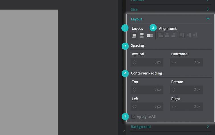 palette layout