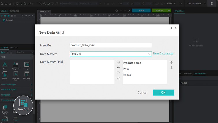 product data grid