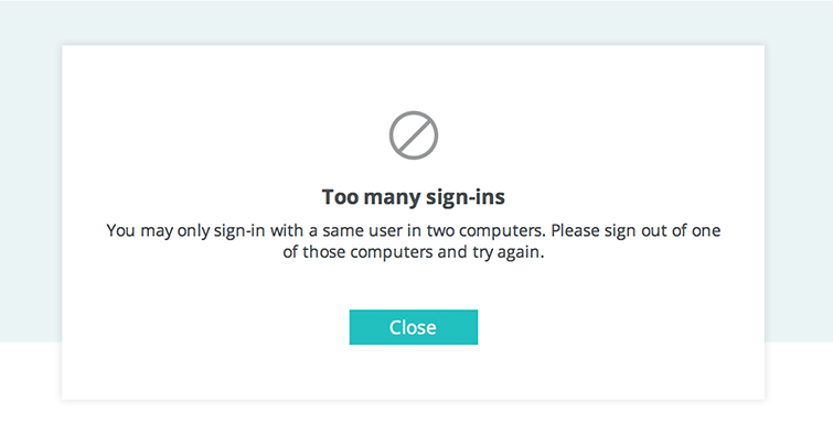 too many sign ins