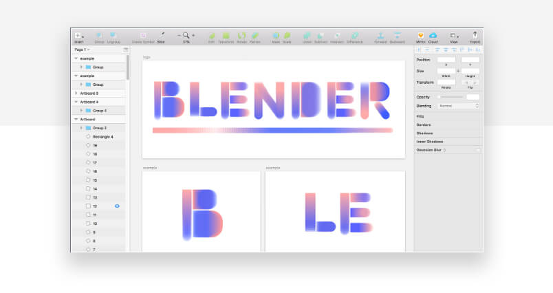 best sketch plugins - blender to blend colors