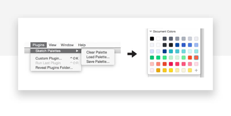best sketch plugins - palettes screenshot as example of use