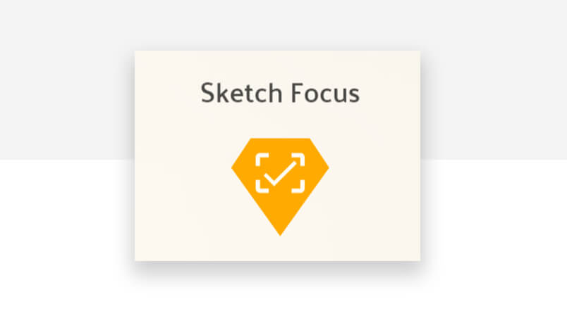 best sketch plugin - Sketch focus logo