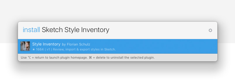 Sketch plugin - style inventory download example