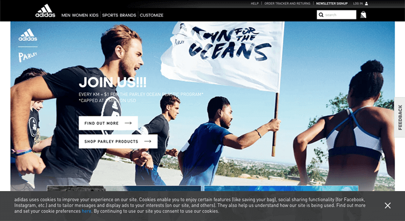 web-cookies-user-experience-adidas-footer