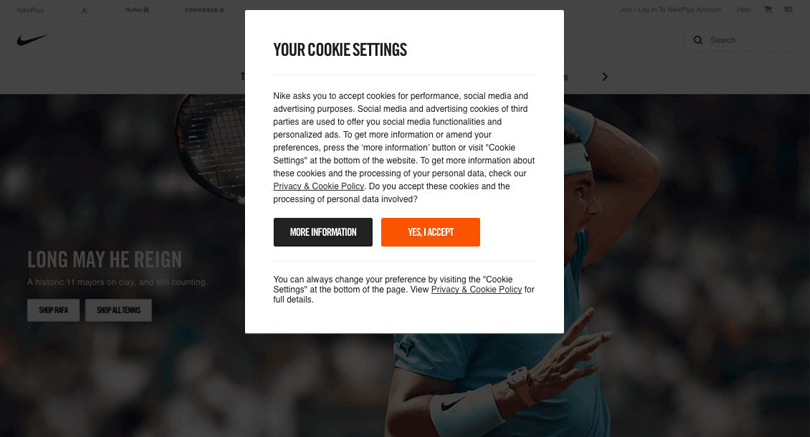 web-cookies-user-experience-nike-modal