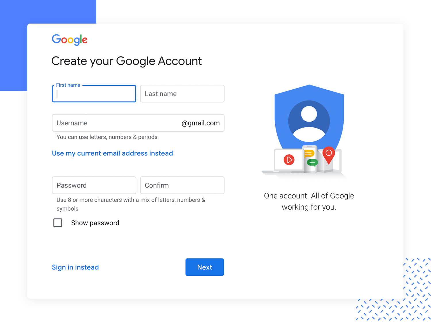 gmail-sign-up-form