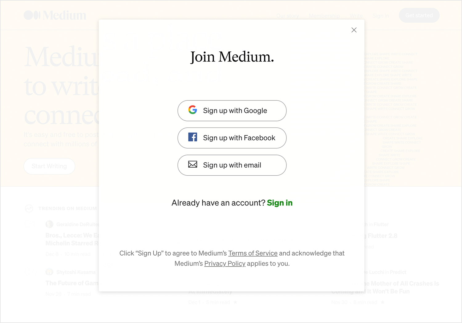 medium-sign-up-form