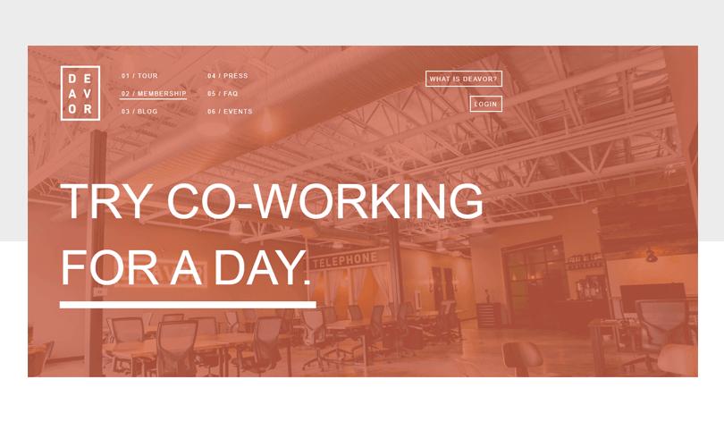 deavor-swiss-style-design-website