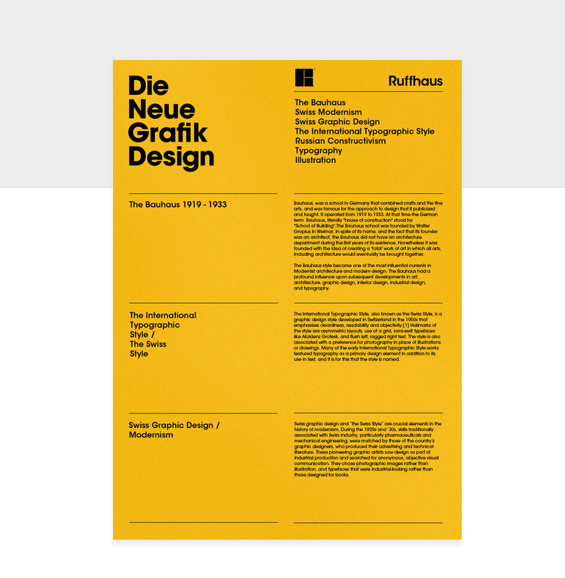 swiss international graphic design