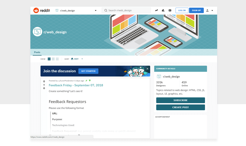 web-design-reddit