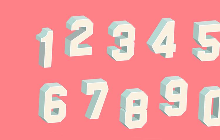 Number fonts - UX/UI design