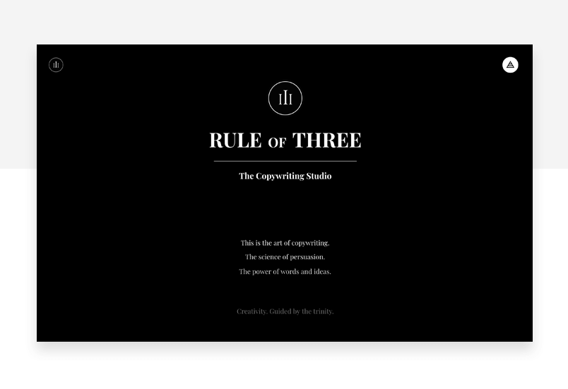 Rule of Three - visual storytelling - Justinmind