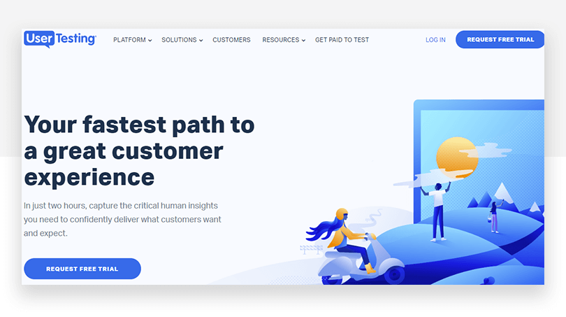 UserTesting's new CTA - website redesign - Justinmind