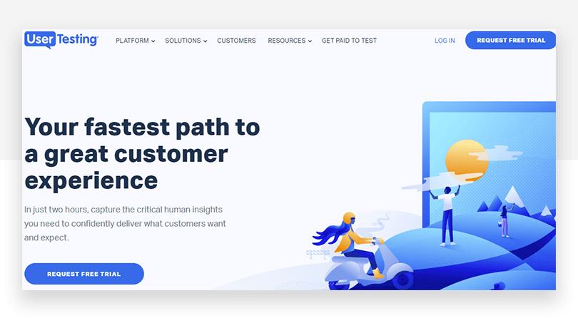 UserTesting's new CTA - website redesign - Justinmind