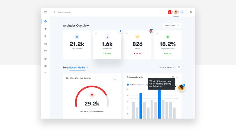 A analytics influencer dashboard - Justinmind