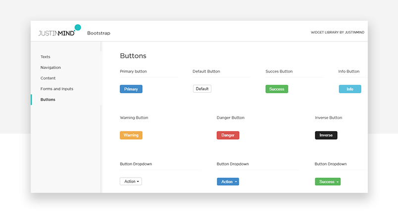 UI kit components for button design - bootstrap