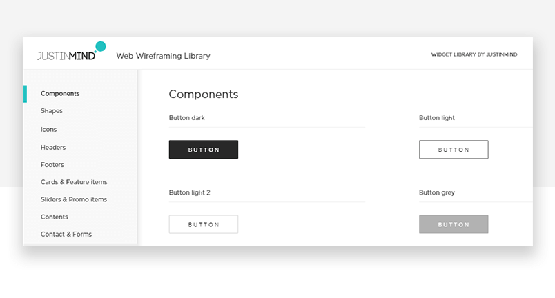 Button design tools - UI kit components for web