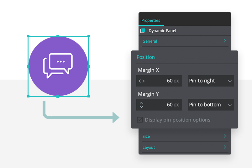 designing and setting up floating button in landing page