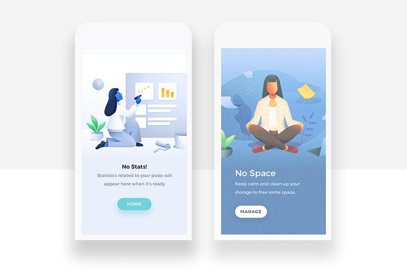 Graphic background example - custom illustration for better storytelling