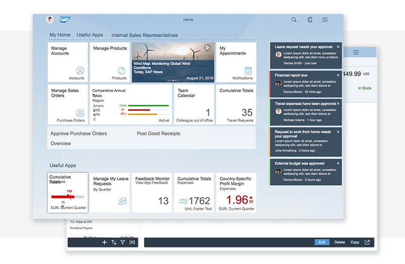 SAP Fiori UI kit - Dashboards - Justinmind